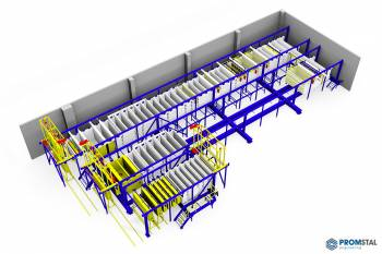 Technologická konstrukce linky pro galvanické pokovování
